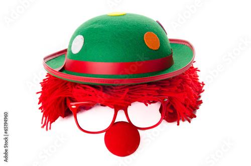 Keuken foto achterwand Carnaval clownskostüm mit Perücke