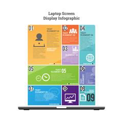 Laptop Screen Display Infographic