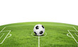 canvas print picture - Fußballfeld mit Ball