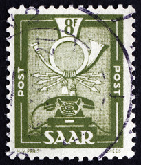 Postage stamp Saar, Germany 1951 Communications Symbols