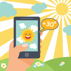 Weather smart phone sun