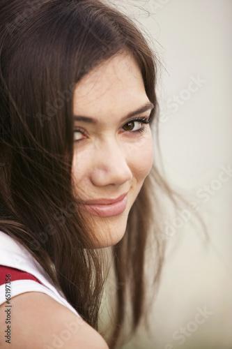 canvas print picture Junge Frau lächelnd, Porträt