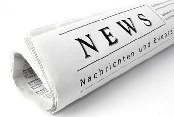 News-Nachrichten Zeitungsrolle weiß