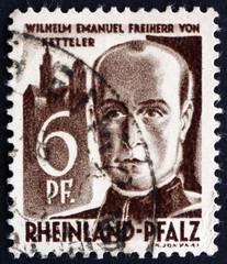 Postage stamp Rhine, Germany 1947 Wilhelm Emmanuel von Ketteler