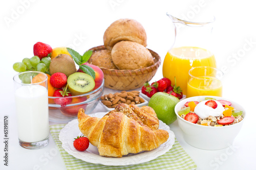 Plexiglas Kruidenierswinkel Healthy breakfast on the table