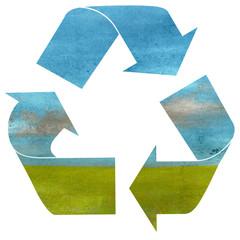 simbolo del riciclo Su fondo bianco