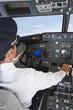Deutschland,Bayern,München,Pilot Pilotierung Flugzeug von Flugzeug-Cockpit