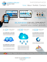 Attractive Modern Business Web Template with flat UI elements.