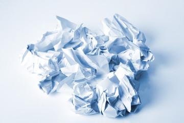 Zerknitterte Briefpapier