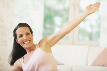 Frau macht Yoga-Übung,fit,Porträt