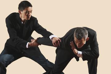 Kung Fu,Qingna duilian,Zwei Geschäftsleute kämpfen