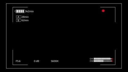 Camera viewfinder digital overlay display loop - 4k