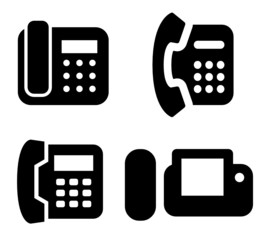 Modern phones vector icon set