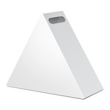 White Cardboard Triangle Carry Box Bag Packaging For Food