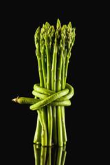 Bündel von grünem Spargel