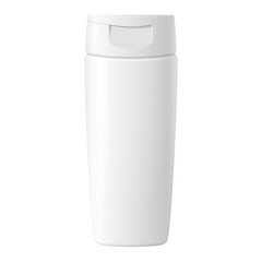 Shampoo, Gel Or Lotion White Plastic Bottle With Lid