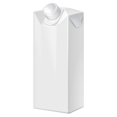 Milk, Juice, Beverages, Carton Package Blank