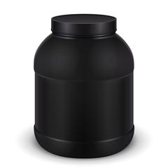 Sport Nutrition, Protein, Gainer, Black, Jar Can Cap Bottle
