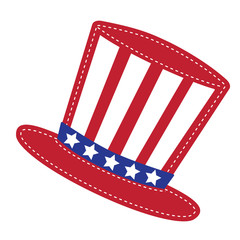 Patriotic Uncle Sam hat