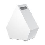 White Cardboard Pentagonal Carry Box