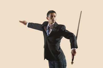 Kung Fu,Media-,Mann mit Schwert