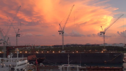 Bahamas - Freeport - Industrial Port - Ship In Dry Dock