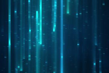 Abstract digital data stream background