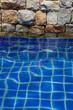 Particolare rivestimento  piscina.