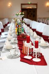 Stół weselny, ślub.