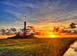 Leinwanddruck Bild - Westerhever Leuchtturm