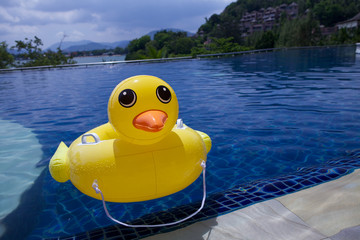 Inflatable duck.