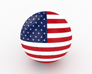 3d United States of America Fifa World Cup Ball - isolated