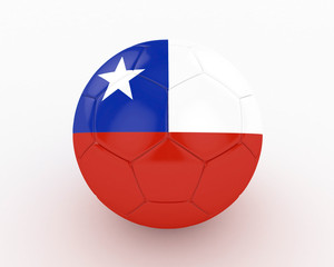 3d Chile Fifa World Cup Ball - isolated