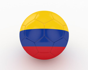 3d Colombia Fifa World Cup Ball - isolated