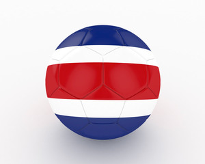 3d Costa Rica Fifa World Cup Ball - isolated