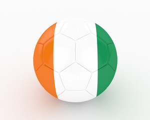 3d Cote d'ivoire Fifa World Cup Ball - isolated