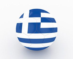 3d Greece Fifa World Cup Ball - isolated