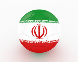 3d Iran Fifa World Cup Ball - isolated