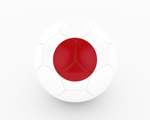 3d Japan Fifa World Cup Ball - isolated