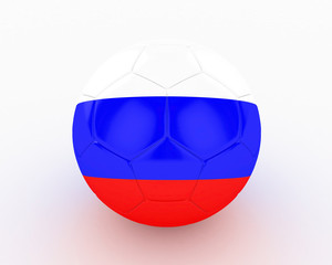 3d Russia Fifa World Cup Ball - isolated