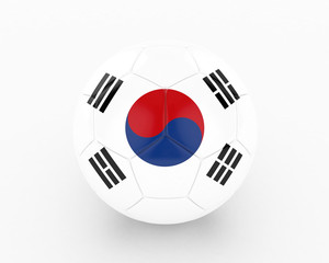 3d South Korea Fifa World Cup Ball - isolated