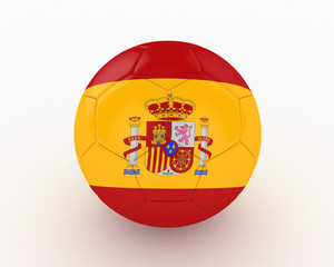 3d Spain Fifa World Cup Ball - isolated