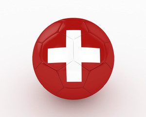 3d Switzerland Fifa World Cup Ball - isolated