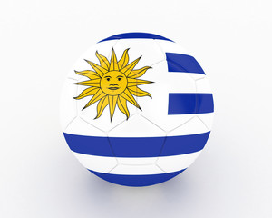 3d Uruguay Fifa World Cup Ball - isolated