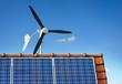 Kleinwindkraftanlage Kleinwindanlage Photovoltaik auf Hausdach - 65210371
