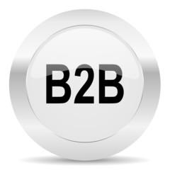 b2b silver glossy web icon