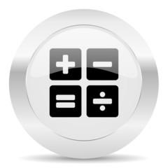 calculator silver glossy web icon