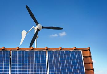 Kleinwindkraftanlage Kleinwindanlage Photovoltaik auf Hausdach