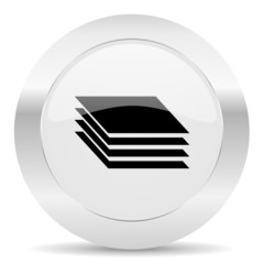 layers silver glossy web icon