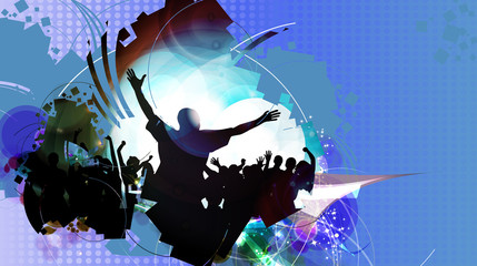 Music banners. Vector